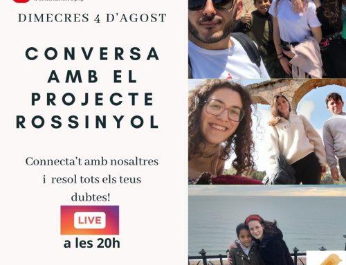 AGENDA | 4 d'agost Conversa amb el Projecte Rossinyol